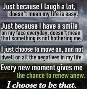 This is exactly it. Can't change the past, but can stay positive about the future.