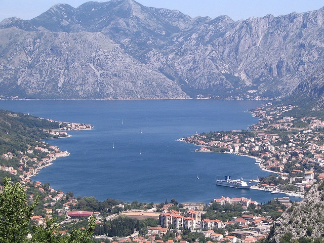 Kotor, Montenegro. It is the only fjord in the Northern Hemisphere of the south east Europe. Anytime that I drive in the area, I stop by. The old town is beautiful and the scenery is just gorgeous.