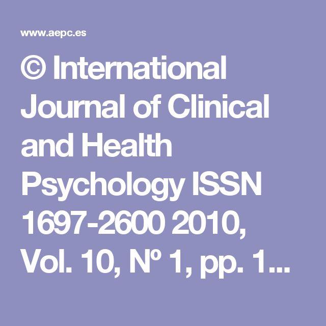 ©  International  Journal  of  Clinical  and  Health  Psychology  ISSN  1697-2600  2010, Vol. 10, Nº 1, pp. 141-165  La Terapia de Aceptación y Compromiso (ACT)  en  el  consumo  de  sustancias  como  estrategia  de  Evitación Experiencial