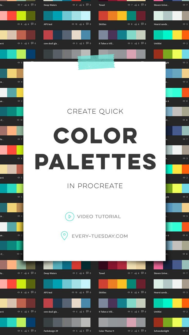 Tutorial | Create Quick Color Palettes in Procreate by every-tuesday.com