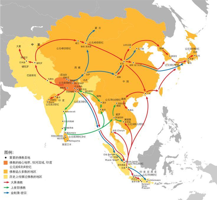 佛教的傳播路線