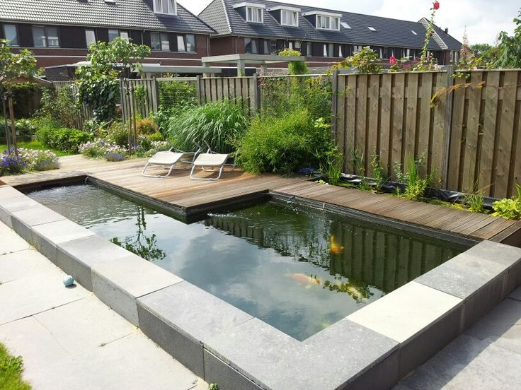 Vijver koi pond koivijver strak modern hobby project for Modern koi pond design