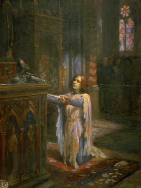 L'Ex-voto (Jeanne d'Arc), 1920, huile sur bois, 61 x 46.5 cm, Musée des Ursulines, Mâcon