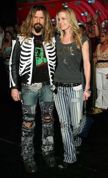 Sheri Moon and Rob Zombie.