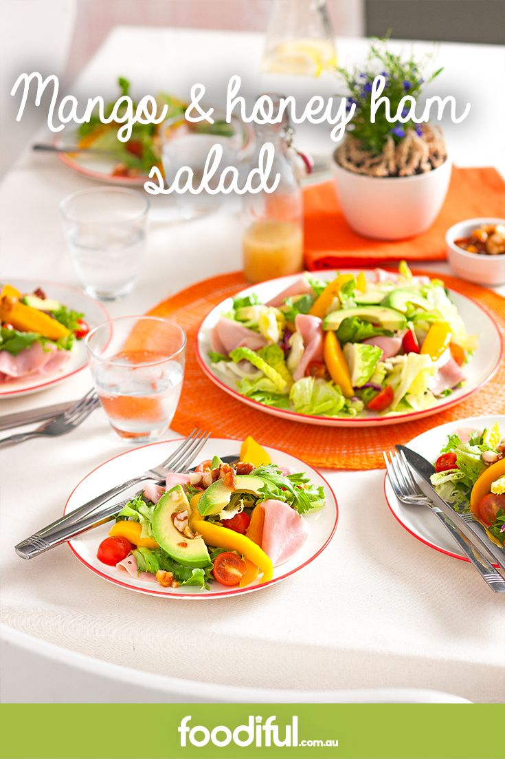 This mango and honey ham salad is super easy! And with fresh, seasonal mango (who doesn't love mango?) it'll be a hit. It takes 20 minutes to make and serves 4 people.