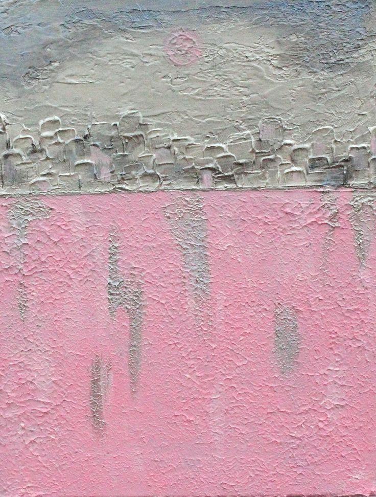 "For Sale: Pink Moon No.5 by Sheron Smith | $100 | 14""w 18""h | Original Art | https://www.vangoart.co/sheron-smith1/pink-moon-no-5"