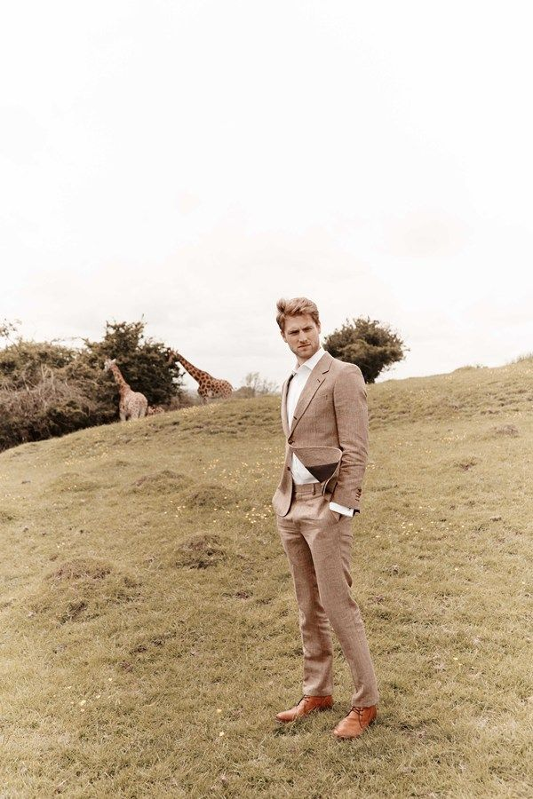 Feast your eyes on the glorious wedding dresses and groom suits from our safari photoshoot at Port Lympne in Kent