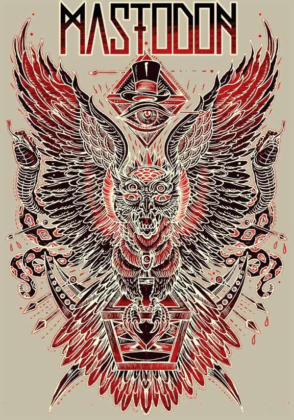 Mastodon Poster by Rafal Wechterowicz.