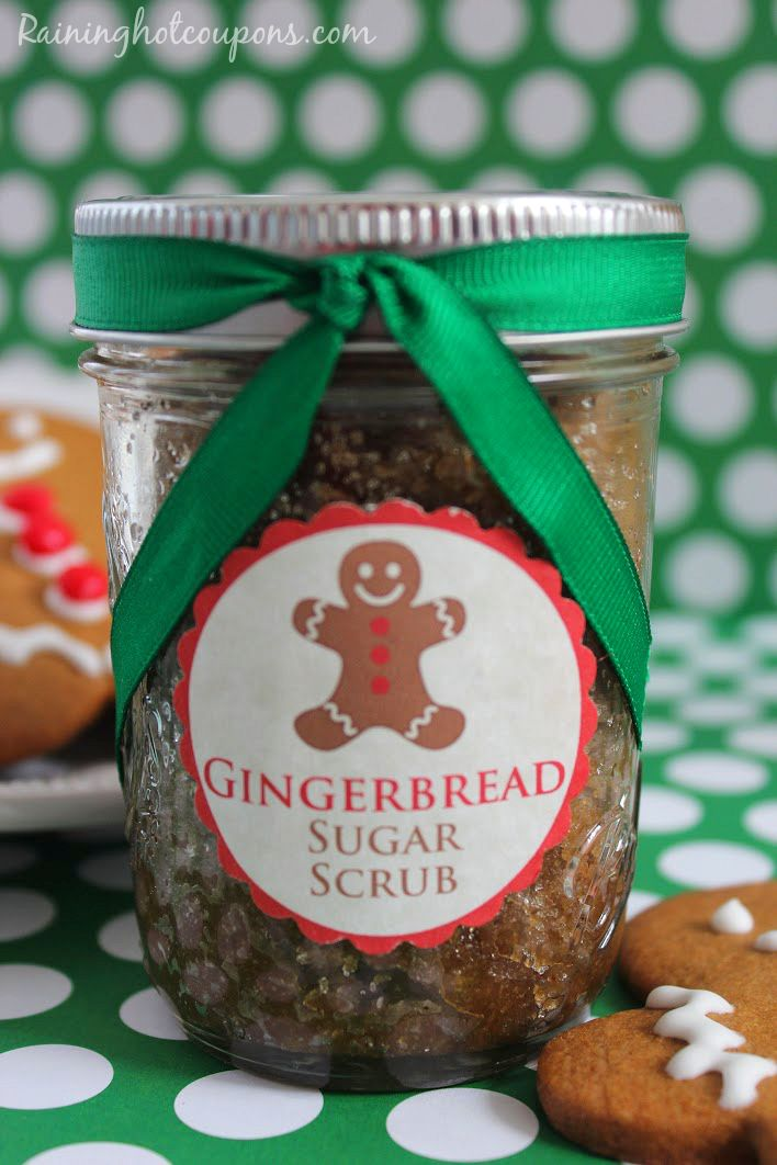 Gingerbread Sugar Scrub + FREE Printable Gift Tag