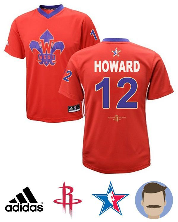 New Adidas Swingman Dwight Howard 2014 Nba West All Star Replica Jersey #12 Activewear Tops