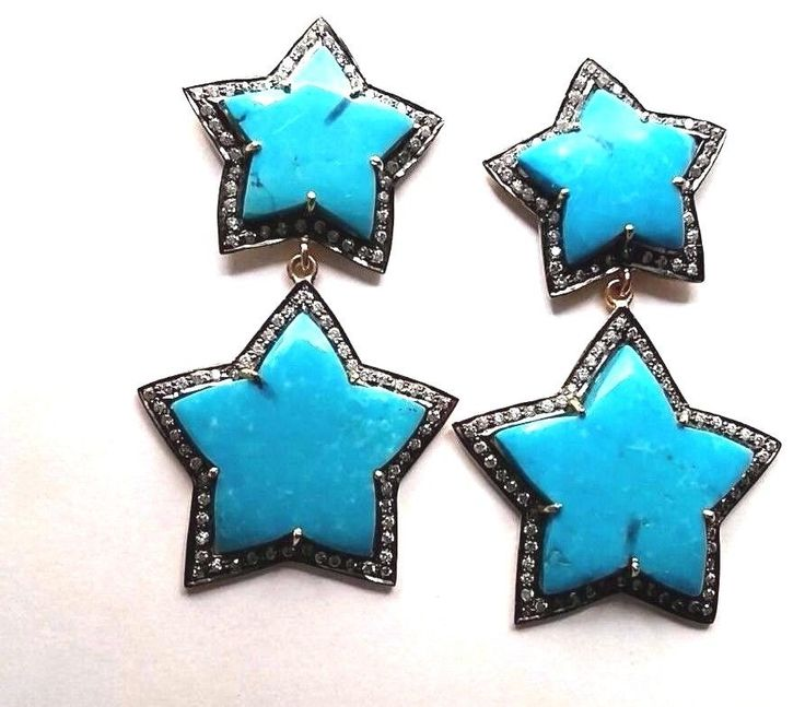 FREE SHIPPING 925 SOLID STERLING SILVER EARRING CARVED GEMS EARRING 2.5 INC  #DropDangle