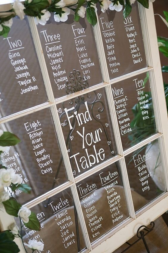 It is time to find creative ideas on how to display your wedding seating arrangements in a unique way that suits your wedding's theme and color scheme. For more ideas go to wedwithbliss.com #weddingideas #weddings