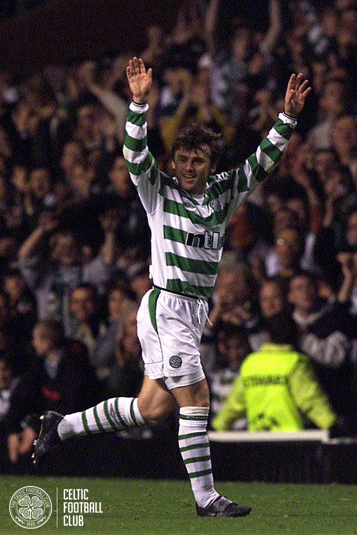 Lubomir Moravcik laps up the applause from the Celtic fans  after the game against Juventus at Celtic Park in October 2001.