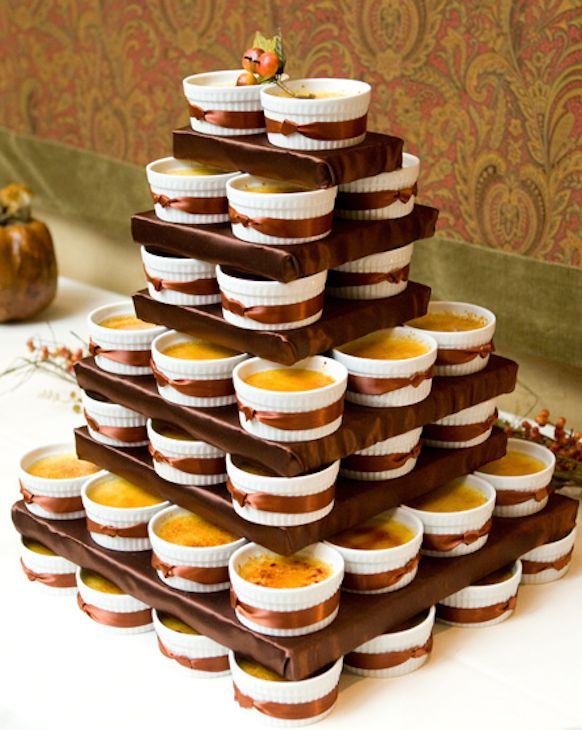 Crème Brûlée Cake   20 Amazing Alternative Wedding Cake Ideas   The Rule Of  Thumb With Alternative Wedding Cakes Is That If You Want It, Go Ahead And  Have ...