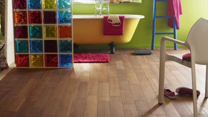 Salle de bains couleur