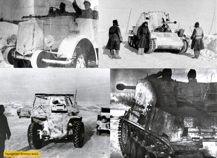 Winter camuflage on Hungarian armour.
