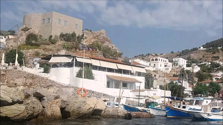 The island of Hydra by boat