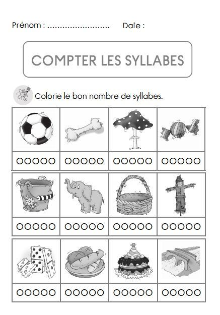 Counting syllables in French. Compter les syllabes.