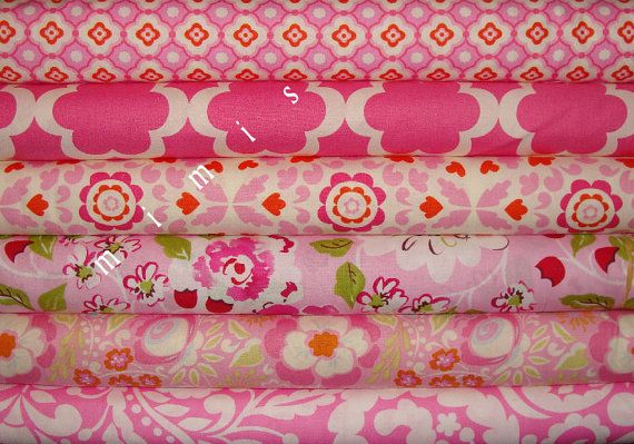 Pink: It Designs, Half Yard, White Rose, Fav Fabrics, Fabrics Sew, Pink, Cotton Quilt