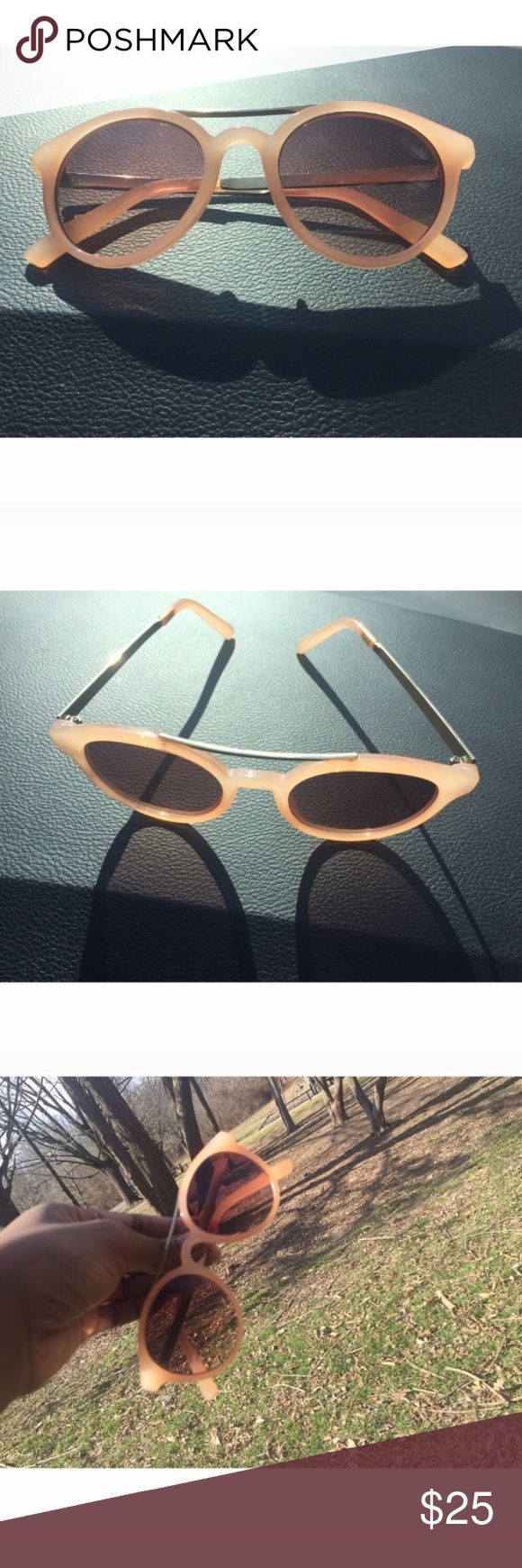 Ann Taylor Loft Peach UV Sunglasses Ladies these are sophisticated sexy x10!!! These hot off the press Ann Taylor Loft Peach mimosa, Lucite and metal sunglasses will make any out fit better!!!! UVA Sunglasses LOFT Accessories Sunglasses