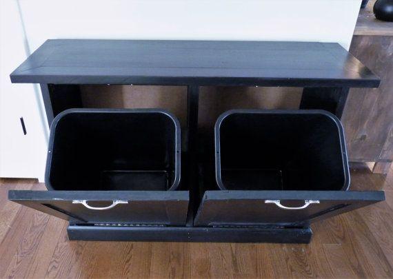 double or triple tilt out trash bin