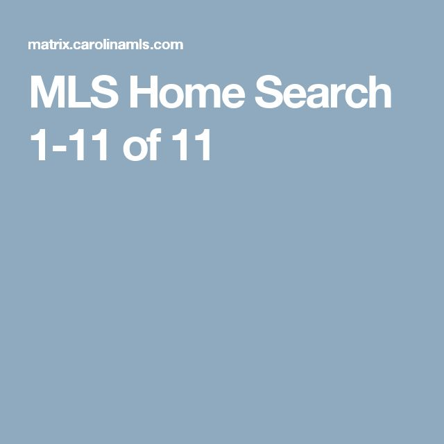 MLS Home Search  1-11 of 11