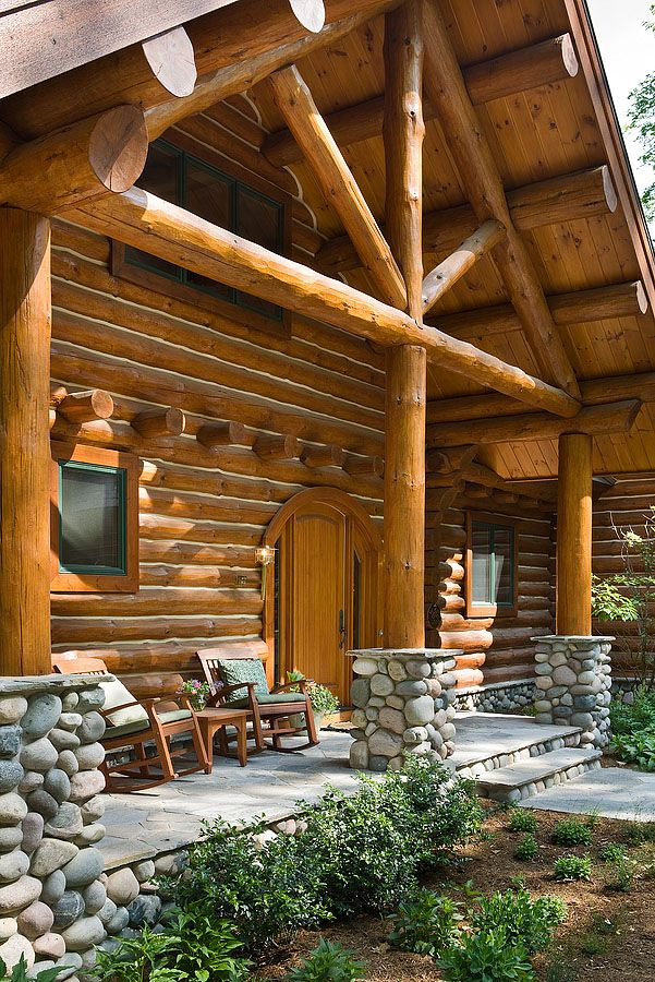 4922 best images about cabin time on pinterest cabin for Log cabin porch