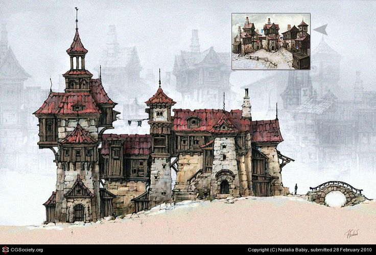 http://babiy.cgsociety.org/art/medieval-photoshop-street-old-town-2d-858641