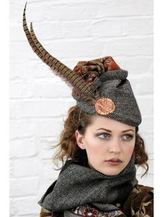 cute scottish hat feather at back - Google Search