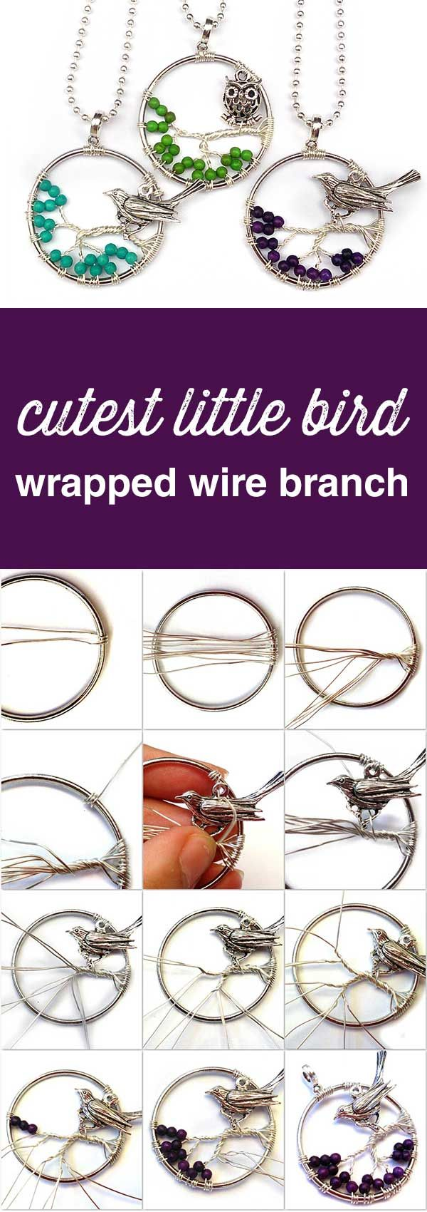 494 best online tutorials images on pinterest crafts diy kid how to make a bird or owl charm sitting on a wire branch free online jewellery making tutorials baditri Gallery