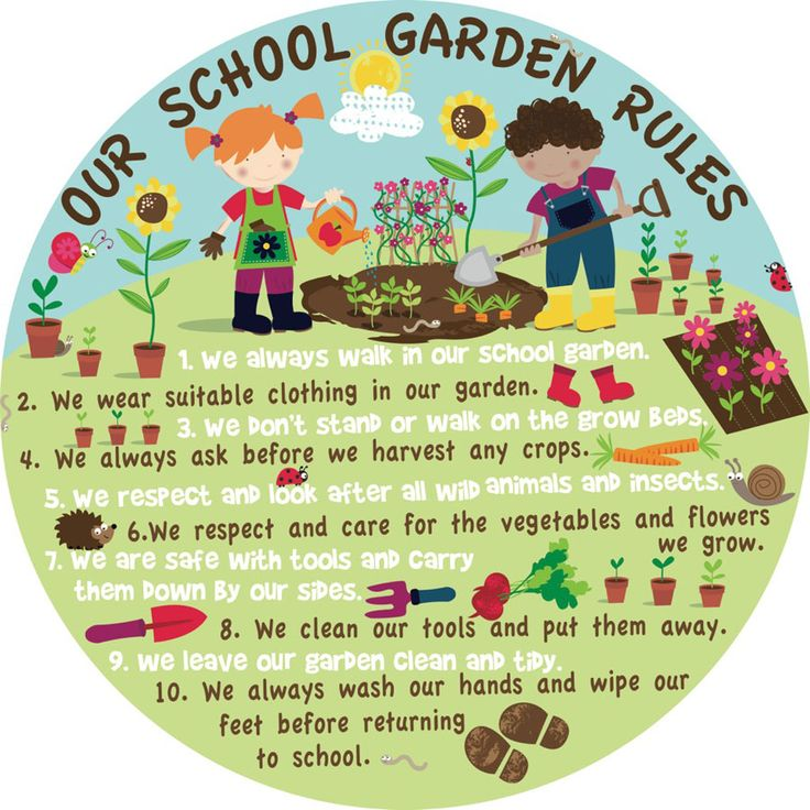 Our school garden rules sign board school garden for School garden designs