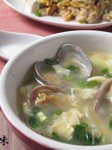 あさりとキャベツの生姜スープ