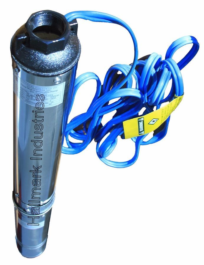 """4/"""" Deep Well 207 ft Max 1 HP 33 GPM Submersible Pump long life 220V"""