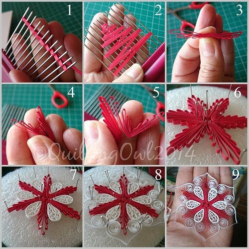 Copenhagen Snowflake by Quilling Owl - this is how I incorporated the copenhagen star into my own design and created a snowflake :)