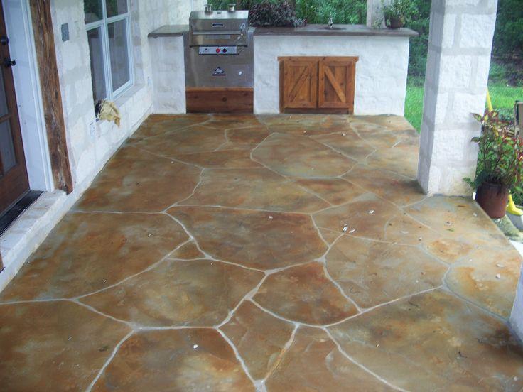 Great Outdoor Kitchen Faux Stone Patio | Clay Reinarz