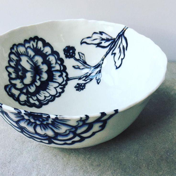 Hand painted porcelain bowl. www.hartstudios.com.au