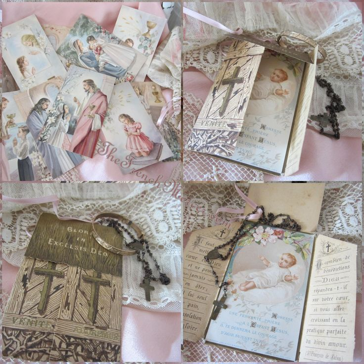 French Baptism Folding card and French communion cards...The French Mercer