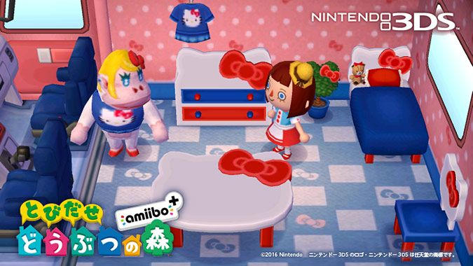 First look at the Animal Crossing + Sanrio collaboration for the Animal Crossing: New Leaf fall amiibo update