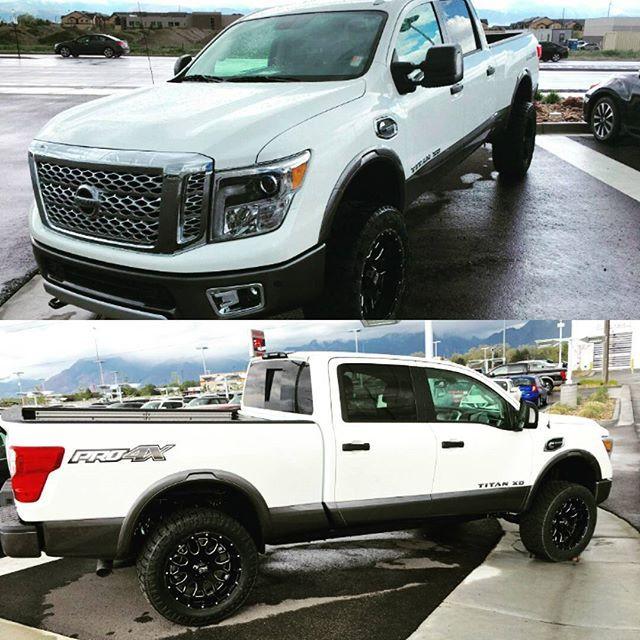 "Tim Dahle Nissan install of the CALMINI Titan XD 3"" Suspension System. #calmini #calminiproducts #timdahlenissan #timdahle #nissan #NissanTitan #titanxd2016 #titanxd #titancummins #cummins #diesel #truckporn #trucknation #americantitan #modded #calminisuspension #suspension #customerrides #madeintheusa calmini.com"