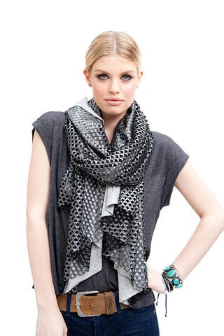 SILVER CUTOUT WRAP WITH JERSEY