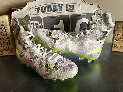 UNDER ARMOUR HIGHLIGHT PE TEAM ISSUED CAM NEWTON CLUTCHFIT FOOTBALL CLEATS 10.5