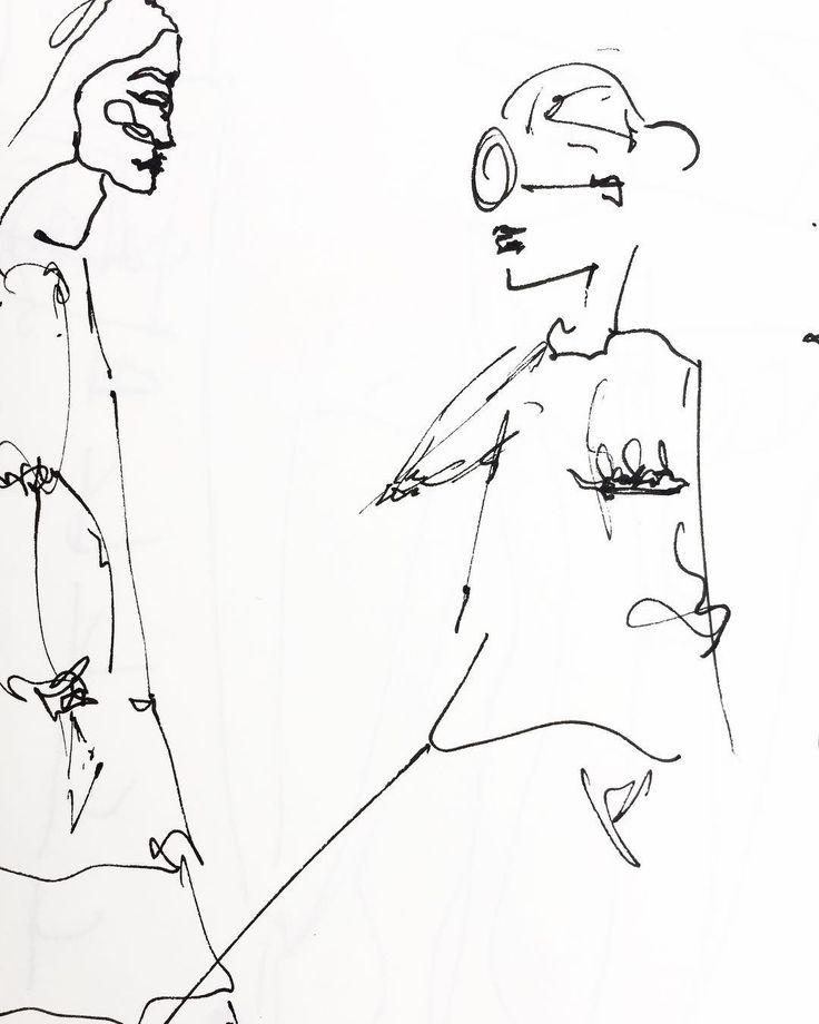 Fashion Sketch - ANHET design - by Ana Herrera