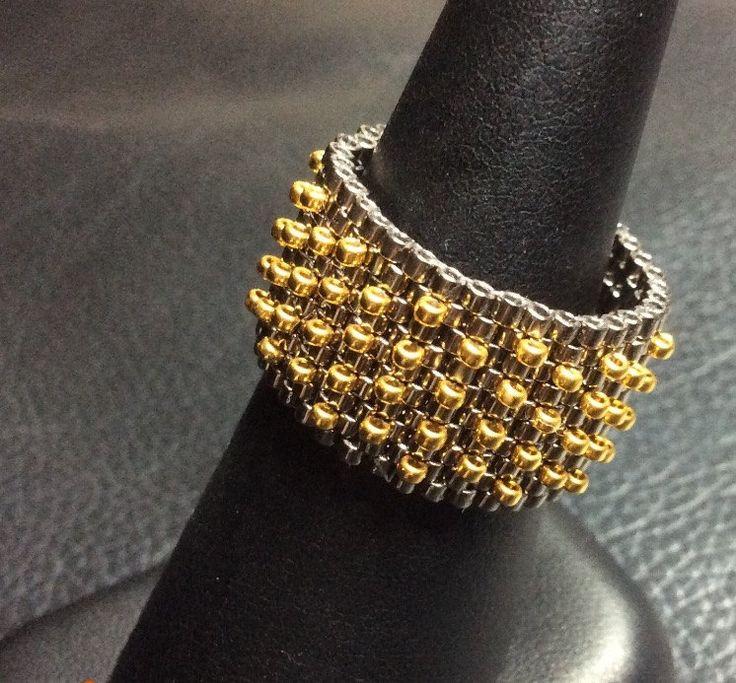 Palladio argento anello oro 14k anello gioielli di CovetAndDesire