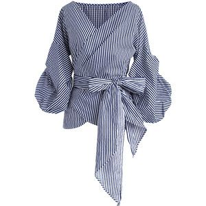 Chicwish Enchanting Echo Wrapped Top in Stripe