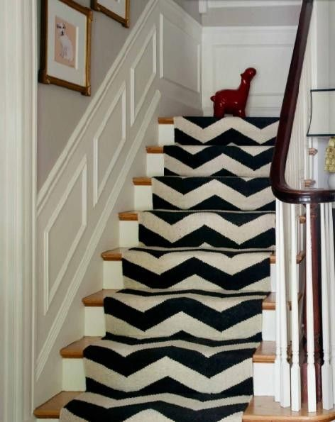 chevron carpeted stairs...Chevron Carpets, Stairs Runners, Stairways Carpets, Chevron Stairs, House, Stair Runners, Staircas, Carpets Stairs, Chevron Runners