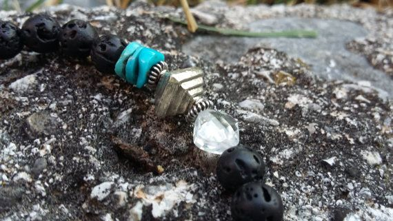Silent Warrior!  Made of AAA quality authentic gemstones.  ~Lava~ Strenght…