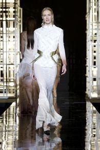 SCAD Fashion Show 2012. designer Blake Smith. photo by Dan Lecca for Elle Magazine. model Lara Lill