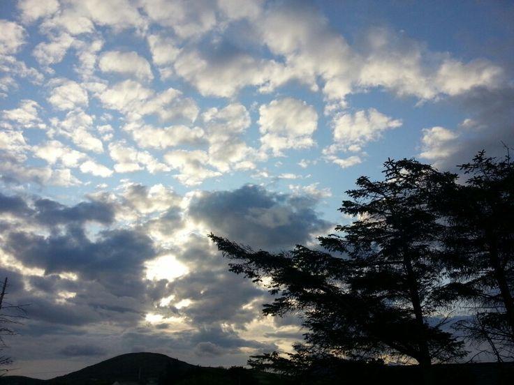 Sunrise. Looking east from Bunowen, County Mayo.