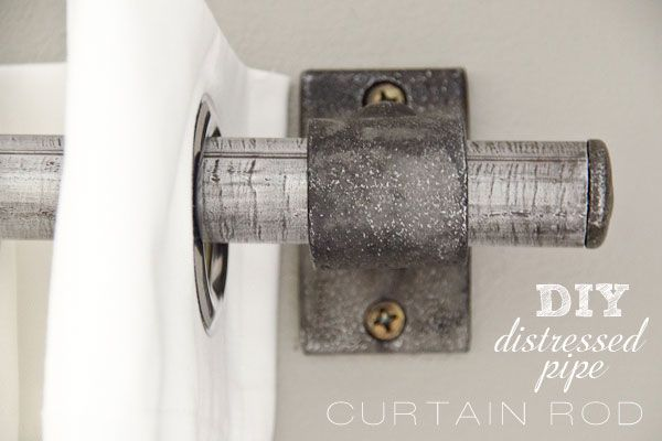 Pipe pipe clamps for a curtain rod - very simple, doesn't stick out from the wall too far - will use for my curtains around the mirrored sliding doors in the bedroom since it won't interfere with the slide