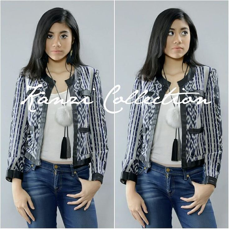 Handwoven Ikat Jacket with leather lace